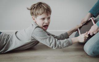 Kid angry at parents